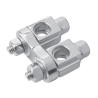 Twin Adjustable Clamps- Straight